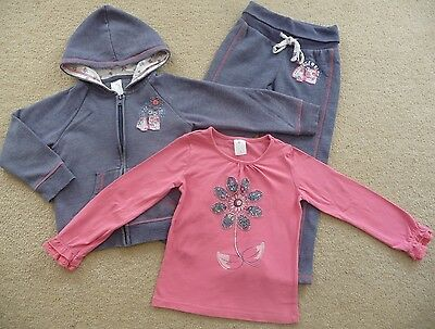 Target Girls Size 4 pink long sleeve top and blue tracksuit - jacket & pants