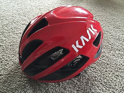 Kask Protone 2.0 Cycling Helmet As New 52-58 Cm Red