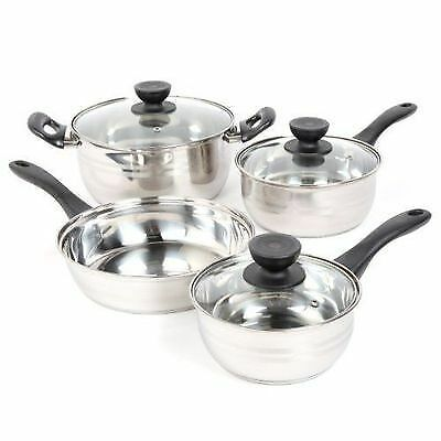 Cookware Set Pots And Pans Non-Stick Stainless Steel 7 Piece Cooking KitchenNew