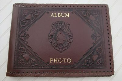 Album photo vintage en cuir    photos