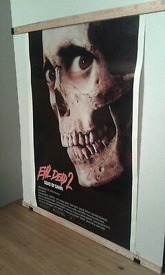 Original 1987 Evil Dead 2 Dead by Dawn Horror ROLLED Movie Theater Poster