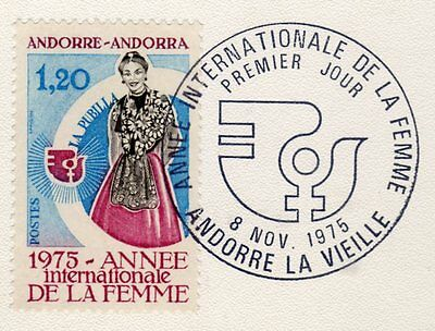 French Andorra. Edifil 271. Fine used on piece. Franked first day of issue.