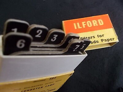 Vintage ILFORD Filters For Enlargers : Box of 7 Filters : Collectable
