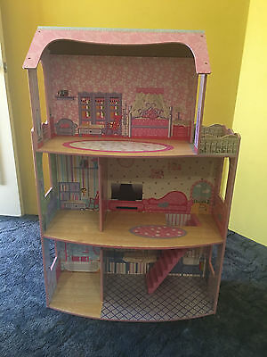 Large Doll House with Wooden Furniture