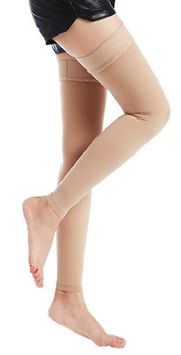 Koolfree Medical Compression Stockings size M (165cm) Natural Colour Thigh Highs