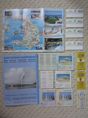 Greece Athens Santorini Delphi Flyer Used Tickets Maps Various