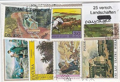 Paysages 25 Timbres Tous Differents