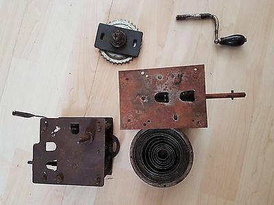Collection of Original Gramophone Phonograph Parts Mechanism Apolllo Swiss Made