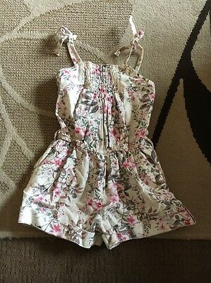 Girls Cream Floral Next Playsuit Age 4years