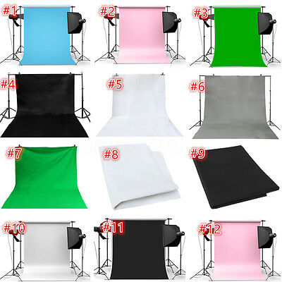 12 Genre Couleurs Pure Toile de Fond Backdrop Tissu Photographie Studio Photo