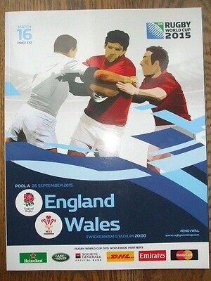 England v Wales Official Programme 2015 Rugby World Cup  *Mint Condition*