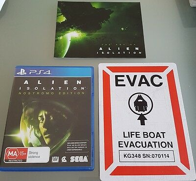 ALIEN ISOLATION Nostromo Edition PS4 Playstation 4 Game *LIKE NEW* Free Post