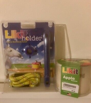 Likit Holder Horse - with a free apple flavour lick