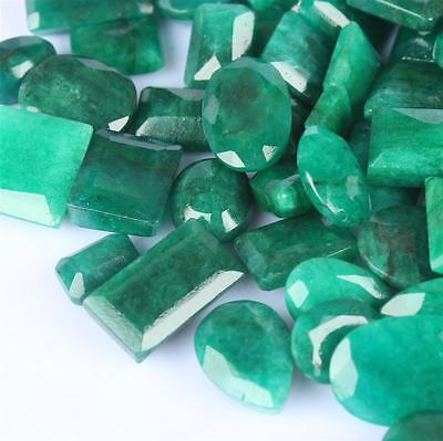 102.030 Ct Natural Faceted Colombian Earth Mine Green Emerald Gemstone Lot