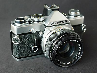 Olympus OM1n SLR Camera with Zuiko 50mm f/1.8 Lens, Refurbished, Very Nice