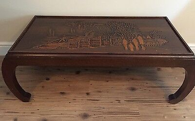 Oriental Carved Coffee Table