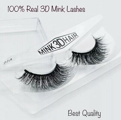 3D Natural Mink Layered False Fake Thick & Long   Eyelashes Makeup Extension A11
