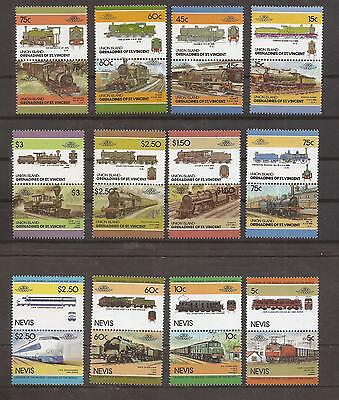 2 Sets _ 24 Stamps _ Trains_ from 1983 _ CV $8.00+ _ MNH