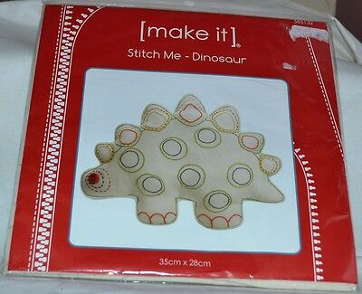 NEW Lutenegger   make it 'Dinosaur ' Sewing Kit. - 35cm x 28cms