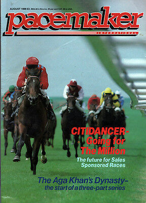 Pacemaker Magazine August 1988 - vintage horse racing publication
