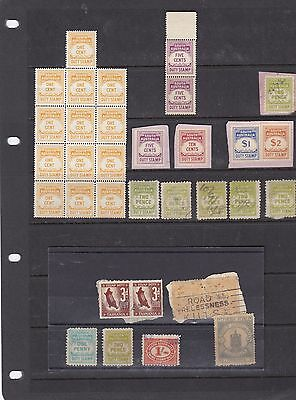 STAMPS..Australia..South Australia , Duty stamps x 32 , mint/used , very nice