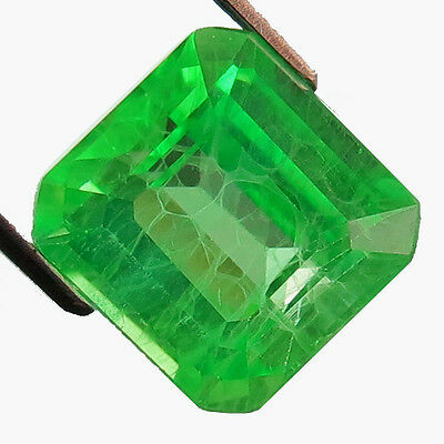 9.90 ct Awesome Columbian Green Emerald Chathum Lab Created Octagon Loose Gem
