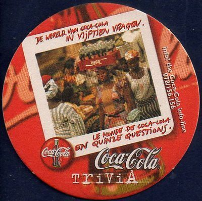Coca Cola  - Trivia  Coaster From Belgium Ja17027