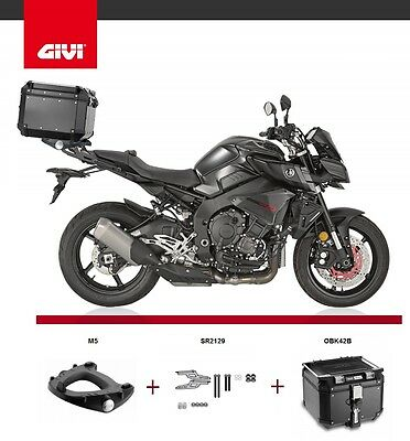 Yamaha MT-10 2016 GIVI TREKKER OUTBACK OBK42B TOP BOX + SR2129 RACK + M5 MT10