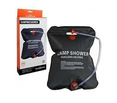 20L Camping Solar Powered Shower Outdoor Sun Heated Water Portable & Compact New