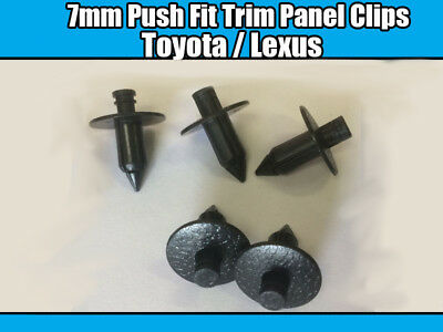 Lexus Poussoir en fit panel fastener Hole TRIM CLIPS 10x