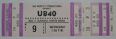 Unused UB40 Concert Ticket at Neal Blaisdell Center on May 9, 1990