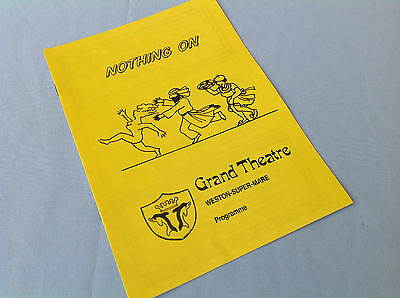 Nothing On theatre programme, Grand Theatre, 1980s