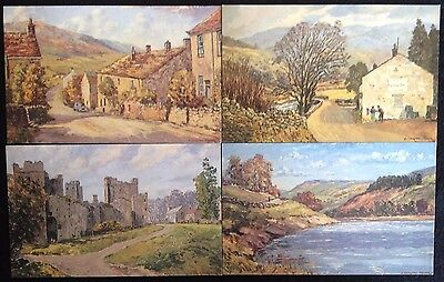 4 Post Office Picture Cards E Chalton Taylor