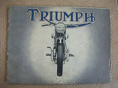 Triumph 1938 motorcycle sales catalogue,original, full range,20 pages,good cond