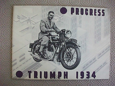 Triumph 1934 0riginal sales catalogue,full range,24 pages,very good condition