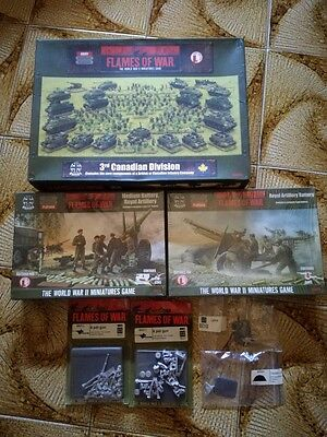 Flames of War 3rd Canadian Division Army Box WWII (BRABO4) + other LOT
