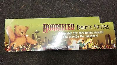 """Horrified B Movie Victims 9 x 3"""" Figures 2006 Rare Prop Mint In Blister Pack"""