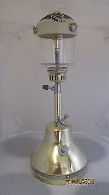 Polished Brass Bialaddin  Table Lamp Paraffin Lamp Pressure