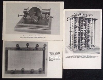 3 Vintage Zinco Collotype Co Postcards