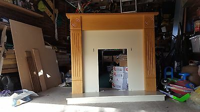 Good condition wooden fireplace surround