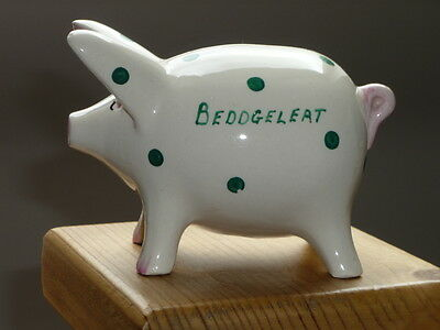 China Pig Money Box Beddgelert Hand-painted