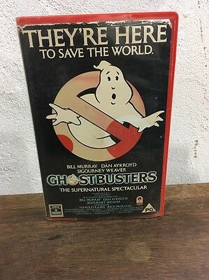 Rare Ghostbusters RCA VHS ex Rental Video. Pre Cert. Big Box
