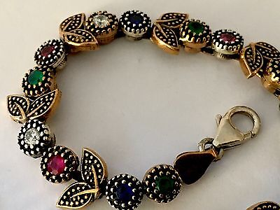 Very Pretty Little Antique Stone Set Bracelet (Relisted) FreeUKP&P(Relisted)