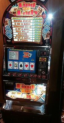 Find the lady fruit machine accepts new £1 coin (permit number 005955)
