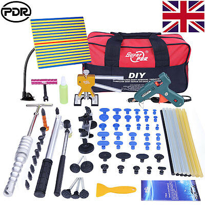 UK PDR Tools Puller Lifter Paintless Dent Removal Hail Repair Slide Hammer Kits
