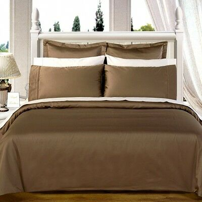 1000 Thread Count 100% Egyptian Cotton Bed Sheet Set 1000 TC QUEEN Taupe Solid