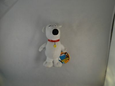 """Family Guy BRIAN the DOG 7"""" plush bean bag character figure toy 2005 With Tags"""