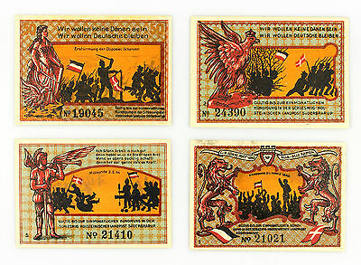 4 diff. Suderbrarup Germany notgeld paper money 1921 Au