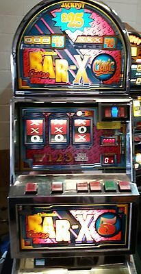 Bar x 5 fruit machine accepts new £1 coin (permit number 005955)