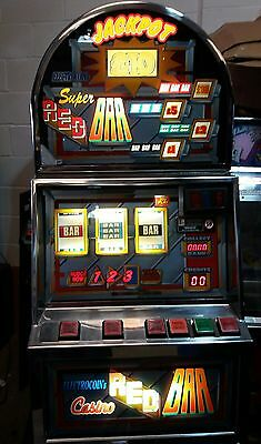 Super red bar fruit machine accepts new £1 coin (permit number 005955)
